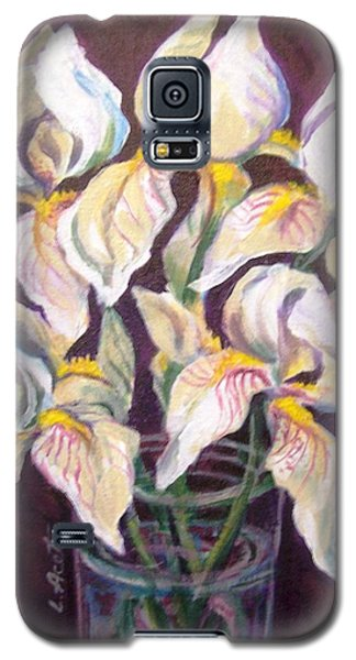 Galaxy S5 Case featuring the painting Dancing Iris by Laura Aceto