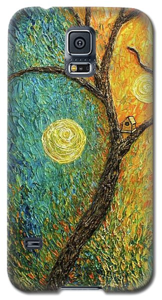 Galaxy S5 Case featuring the painting Dancing Leves by Jane Chesnut