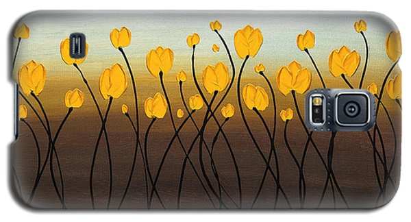 Galaxy S5 Case featuring the painting Dancing Tulips by Carmen Guedez