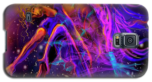 Galaxy S5 Case featuring the painting Dancing With The Universe by DC Langer