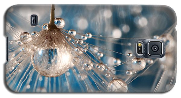 Dandelion Blue Sparkling Drops Galaxy S5 Case