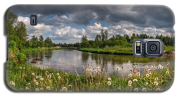 Dandelion Field On The River Bank Galaxy S5 Case