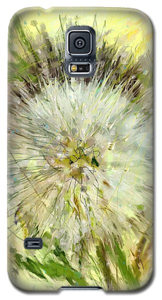 Galaxy S5 Case featuring the drawing Dandelion Sunshower by Desline Vitto