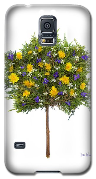 Galaxy S5 Case featuring the photograph Dandelion Violet Tree by Lise Winne
