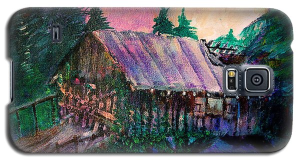 Galaxy S5 Case featuring the painting Dangerous Bridge by Seth Weaver
