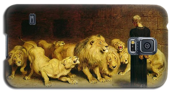 Dungeon Galaxy S5 Case - Daniel In The Lions Den by Briton Riviere