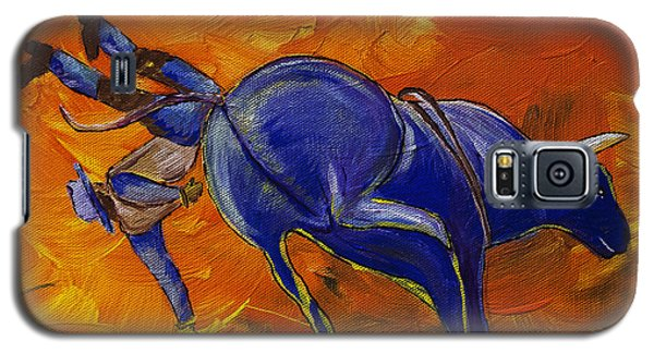 Galaxy S5 Case featuring the painting Danny At The Rodeo by Janice Rae Pariza