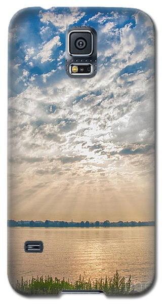 Galaxy S5 Case featuring the mixed media Dappled Dawn by Terry Rowe