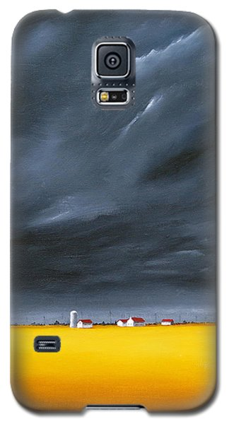 Galaxy S5 Case featuring the painting Dark And Stormy by Jo Appleby