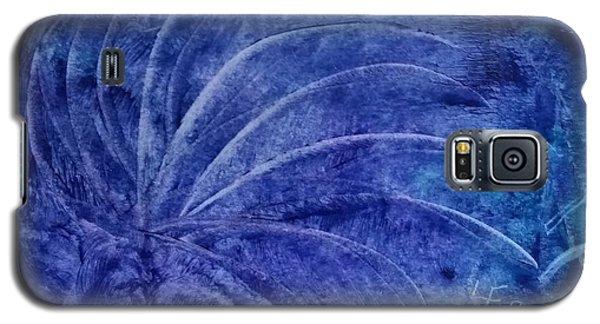Dark Blue Abstract Galaxy S5 Case
