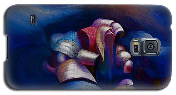 Dark Blue Galaxy S5 Case by Fanny Diaz