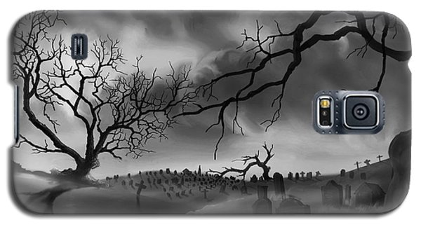Galaxy S5 Case featuring the painting Dark Cemetary by James Christopher Hill