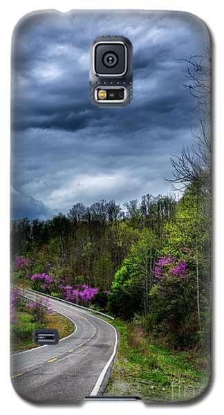 Galaxy S5 Case featuring the photograph Dark Clouds Over Redbud Highway by Thomas R Fletcher