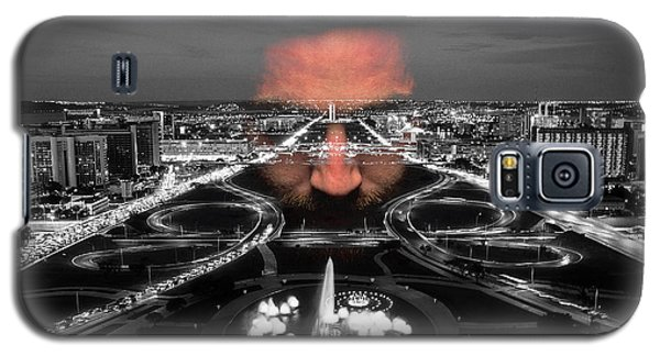 Galaxy S5 Case featuring the digital art Dark Forces Controlling The City by ISAW Company