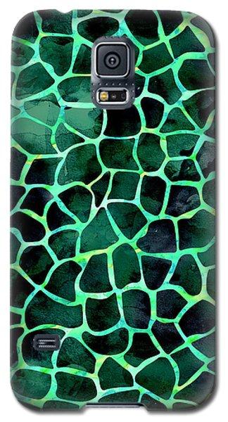 Dark Green Giraffe Print Galaxy S5 Case