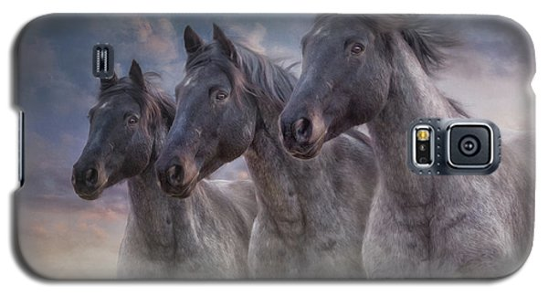 Galaxy S5 Case featuring the photograph Dark Horses by Debby Herold