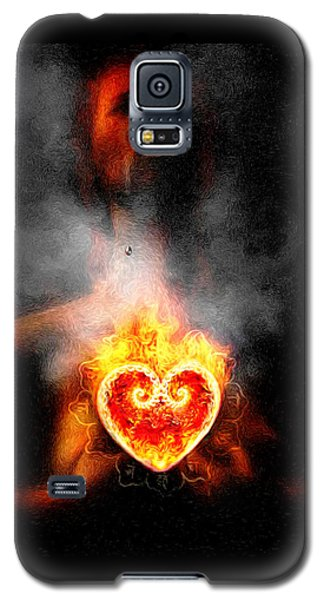 Galaxy S5 Case featuring the painting Dark Night Of The Soul by Robby Donaghey