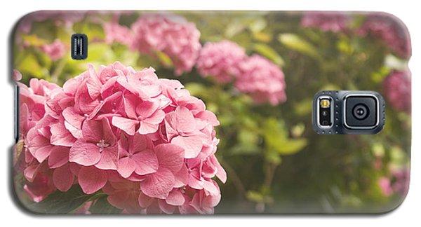 Dark Pink Hydrangea Galaxy S5 Case