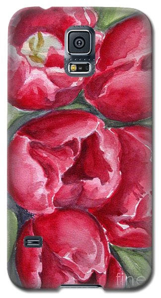 Galaxy S5 Case featuring the painting Dark Red by Inese Poga