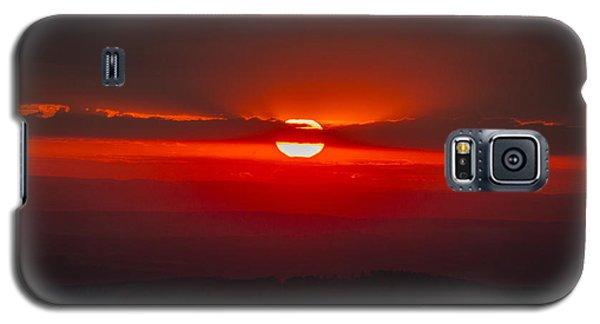 Dark Red Sun In Vogelsberg Galaxy S5 Case