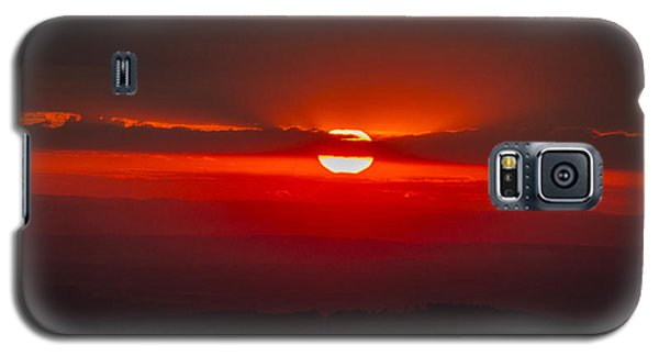 Dark Red Sun In Vogelsberg Galaxy S5 Case