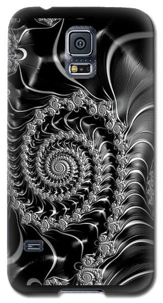 Dark Spirals - Fractal Art Black Gray White Galaxy S5 Case