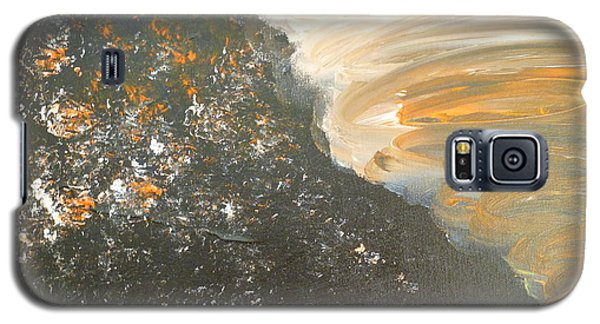 Galaxy S5 Case featuring the painting Dark Storm by Barbara Yearty