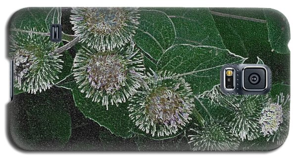 Galaxy S5 Case featuring the photograph Dark Thistles by Kathie Chicoine