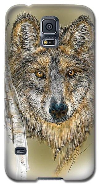 Dark Wolf With Birch Galaxy S5 Case