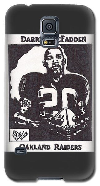 Galaxy S5 Case featuring the drawing Darren Mcfadden 2 by Jeremiah Colley
