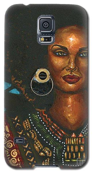 Galaxy S5 Case featuring the painting Dashiki by Alga Washington