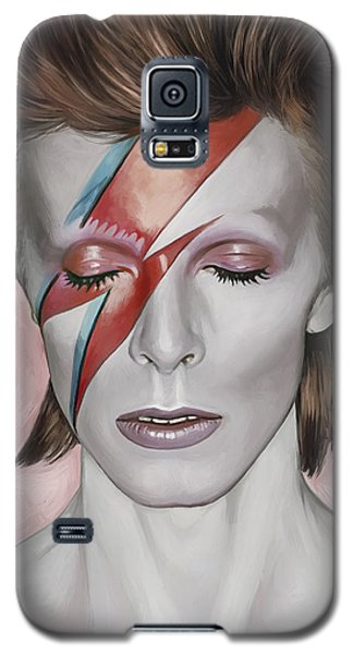 Galaxy S5 Case featuring the painting David Bowie Artwork 1 by Sheraz A