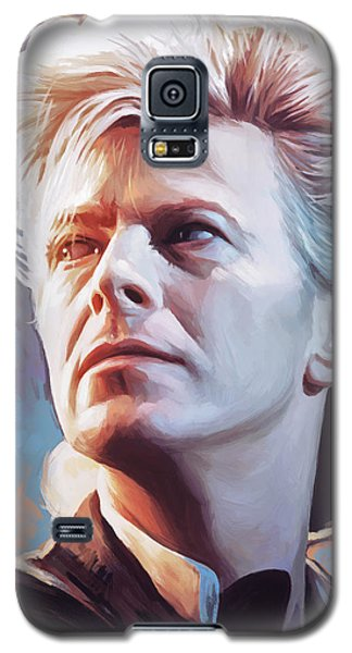 Galaxy S5 Case featuring the painting David Bowie Artwork 2 by Sheraz A