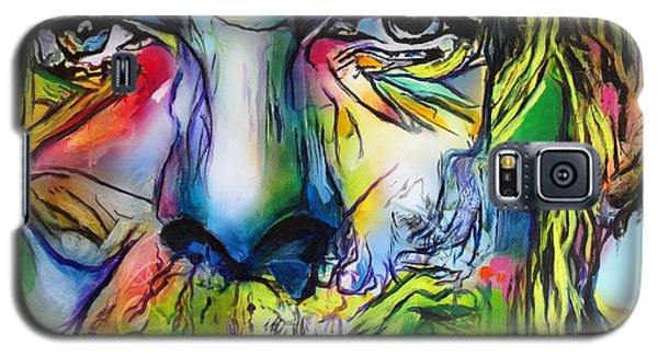 Galaxy S5 Case featuring the painting David Bowie by Eric Dee