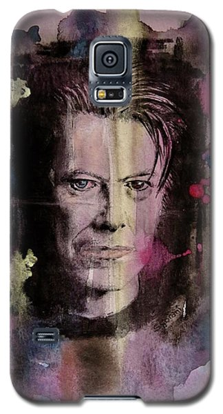 Galaxy S5 Case featuring the painting David Bowie by Geni Gorani