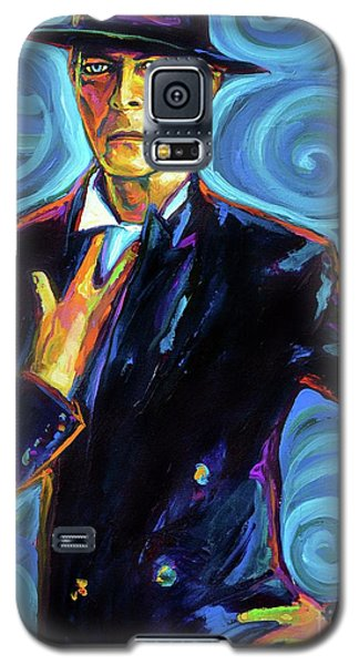 Galaxy S5 Case featuring the painting David Bowie by Robert Phelps