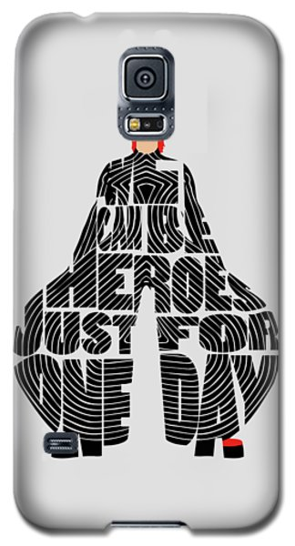 David Bowie Typography Art Galaxy S5 Case