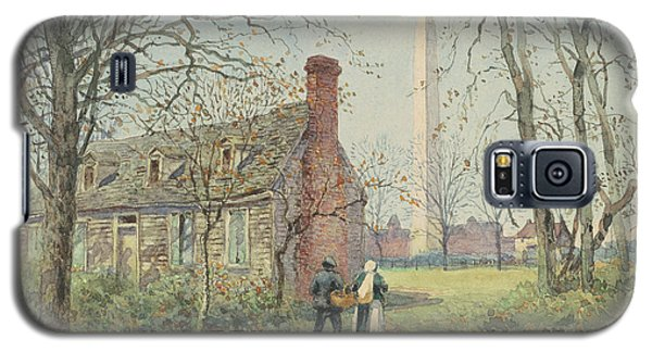 David Burns's Cottage And The Washington Monument, Washington Dc, 1892  Galaxy S5 Case