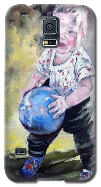 David With His Blue Ball Galaxy S5 Case