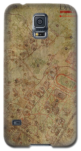 Davidson College Map Galaxy S5 Case
