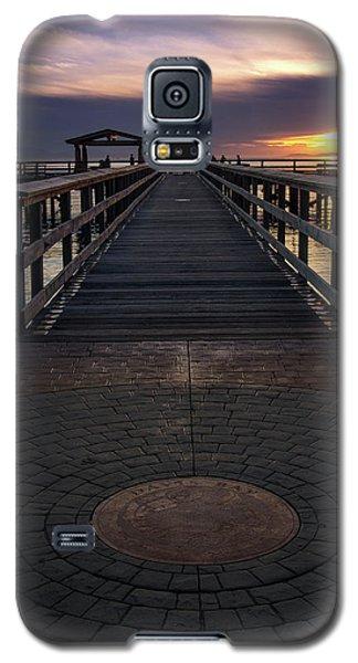 Davis Bay Pier Evening Light Galaxy S5 Case