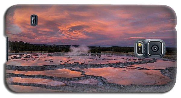 Dawn At Great Fountain Geyser Galaxy S5 Case