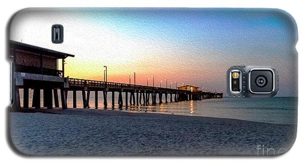 Dawn At Gulf Shores Pier Al Seascape 1283a Digital Painting Galaxy S5 Case