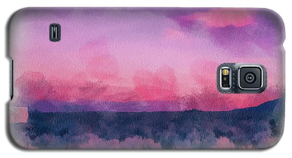 Dawn In Taos In Aquarelle Galaxy S5 Case