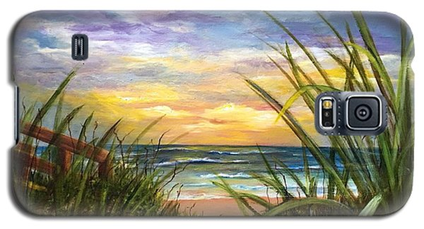 Galaxy S5 Case featuring the painting Dawn Is Breaking  by Susan Dehlinger