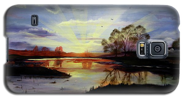 Galaxy S5 Case featuring the painting Dawn by Jane Autry