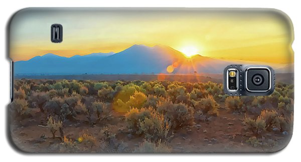 Dawn Over Magic Taos Mountain Galaxy S5 Case