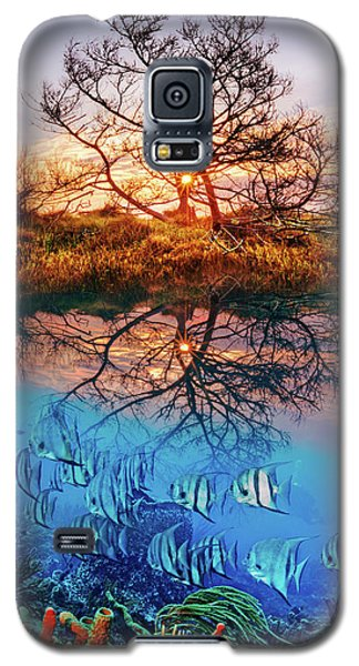 Galaxy S5 Case featuring the photograph Dawn Over The Reef by Debra and Dave Vanderlaan