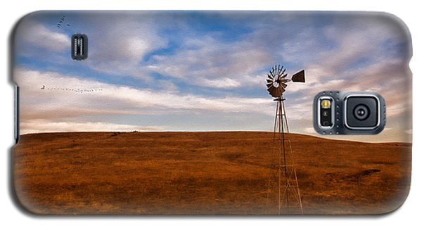 Dawn Prairie Windmill Galaxy S5 Case