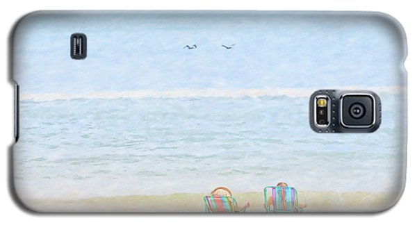 Galaxy S5 Case featuring the digital art Day At The Beach Sun And Sand by Randy Steele